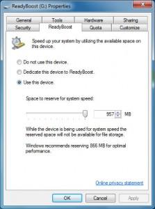 Windows 7 ready boost