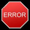 Er verschijnen error messages.