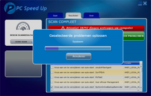 Pc Speed Up Problemen oplossen
