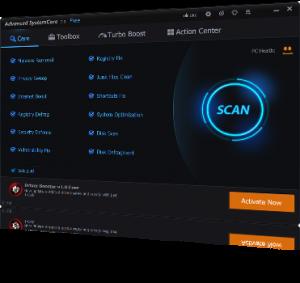 Scan mogelijkheid met Advanced SystemCare.